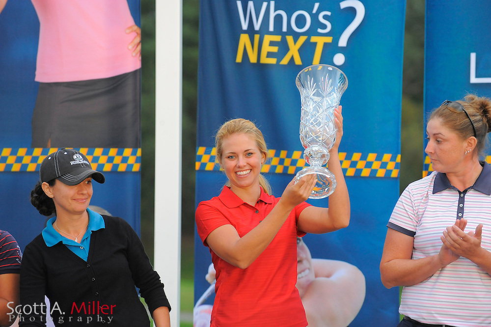 Kathleen Ekey with the Player of the Year trophy following the final round of the LPGA Future Tour's Price Chopper Tour Championship at Capital Hills at Albany on Sept. 11, 2011 in Albany, N.Y...©2011 Scott A. Miller