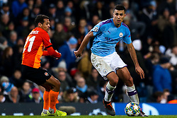 Rodri of Manchester City takes on Alan Patrick of Shakhtar Donetsk - Mandatory by-line: Robbie Stephenson/JMP - 26/11/2019 - FOOTBALL - Etihad Stadium - Manchester, England - Manchester City v Shakhtar Donetsk - UEFA Champions League Group Stage