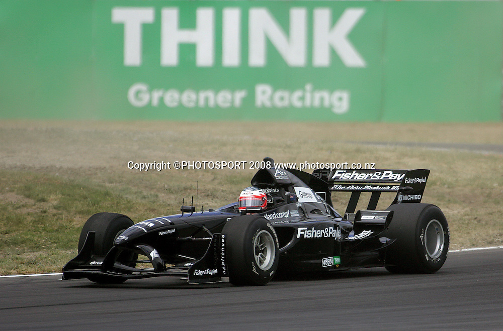 Team New Zealand's Jonny Reid.<br /> A1GP Qualifying Day. Taupo Motorsport Park, Taupo, New Zealand. Saturday, 19 January 2008. Photo: Dave Lintott/PHOTOSPORT