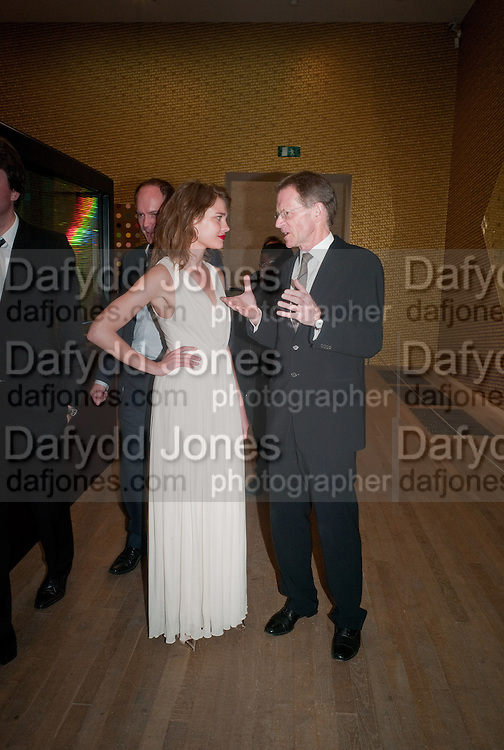 NATALIA VODIANOVA; SIR NICHOLAS SEROTA, Damien Hirst, Tate Modern: dinner. 2 April 2012.