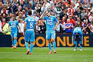 13-09-2015 VOETBAL:FEYENOORD-WILLEM II:ROTTERDAM<br /> Grote teleurstelling bij Willem II na afloop van de wedstrijd bij Stijn Wuytens van Willem II<br />  <br /> <br /> Foto: Geert van Erven