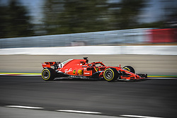 May 11, 2018 - Barcelona, Catalonia, Spain - SEBASTIAN VETTEL (GER) drives during the second practice session of the Spanish GP at Circuit de Catalunya in his Ferrari SF-71H (Credit Image: © Matthias Oesterle via ZUMA Wire)