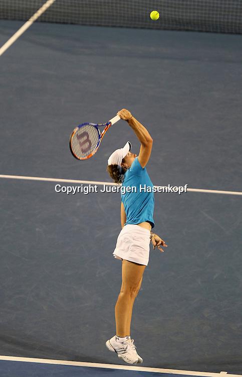 Australien, Melbourne, Sport, Tennis, Grand Slam Tournament, Melbourne Park, Australian Open 2010,..Damen Endspiel,Finale, Justin Henin (BEL),..Foto: Juergen Hasenkopf..