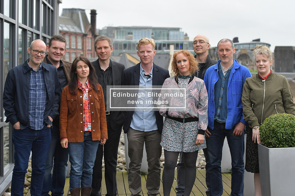 2016 Edinburgh International Film Festival, (left to right) Paul Savage (The Delgados), David Sosson,, Emma Pollock (The Delgados), Alex Kapranos (Franz Ferdinand), Niall McCann (Director), Stephanie Gibson Mark Percival (musician/writer), Paul Walsh(producer), Nicky Grogan (producer), during the WORLD PREMIERE (DOCUMENTARY) LOST IN FRANCE, The Apex Hotel Grassmarket, Edinburgh16th June 2016, (c) Brian Anderson | Edinburgh Elite media<br /> <br /> Niall McCann (Director) <br /> Alex Kapranos (Musician)<br /> Emma Pollock (Musician)<br /> Paul Savage (Musician)<br /> Stewart Henderson (Musician)<br /> David Sosson (Musician)