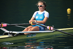 during practice session of Slovenian Youth Rowing team for European Championship 2018, on May 20, 2018, in Bled, Slovenia. Photo by Vid Ponikvar / Sportida