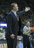 December 28, 2011: Purdue Boilermakers head coach Matt Painter argues a call during the NCAA basketball game between the Purdue Boilermakers and the Iowa Hawkeyes at Carver-Hawkeye Arena in Iowa City, Iowa on Wednesday, December 28, 2011. Purdue defeated Iowa 79-76.