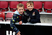 Young Northampton fans before the EFL Sky Bet League 2 match between Northampton Town and Crewe Alexandra at the PTS Academy Stadium, Northampton, England on 16 November 2019.