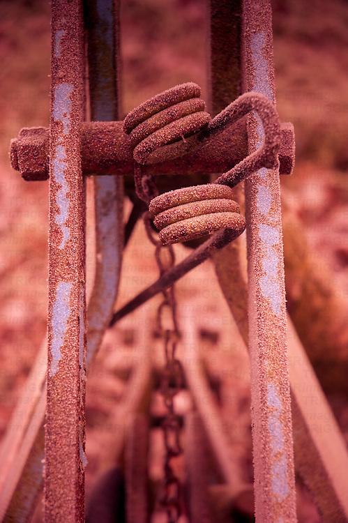 Old fashioned farm machinery