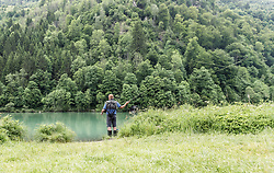 THEMENBILD - ein Fliegenfischer wirft seine Angel aus, aufgenommen am 09. Juni 2019, Kaprun, Österreich // a fly fisherman ejects his fishing rod on 2019/06/09, Kaprun, Austria. EXPA Pictures © 2019, PhotoCredit: EXPA/ Stefanie Oberhauser