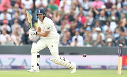 England's Dawid Malan hits out from the bowling of Pakistan's Mohammad Amir during day two of the Second Natwest Test match at Headingley, Leeds.