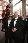 Sir Elton John and Neil Tenant, Ark Gala Dinner, Marlborough House, London. 5 May 2006. ONE TIME USE ONLY - DO NOT ARCHIVE  © Copyright Photograph by Dafydd Jones 66 Stockwell Park Rd. London SW9 0DA Tel 020 7733 0108 www.dafjones.com