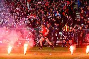 Scott Barrett of the Crusaders runs on during the Super Rugby Final, Crusaders V Lions, AMI Stadium, Christchurch, New Zealand, 4th August 2018.Copyright photo: John Davidson / www.photosport.nz