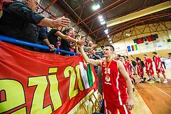 Aleksandar Ponjavic of  KK Tajfun Sentjur after winning supercup basketball match between KK Krka Novo mesto and KK Tajfun Sentjur at Superpokal 2015, on September 26, 2015 in SKofja Loka, Poden Sports hall, Slovenia. Photo by Grega Valancic / Sportida.com