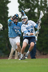 28 March 2009: North Carolina Tar Heels during a 10-7 overtime win over the Johns Hopkins Blue Jays on Fetzer Field in Chapel Hill, NC.