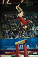 Lu SUI (CHN), competes in the beam, The London Prepares Visa International Gymnastics, Olympic Test Event, North Greenwich Arena, London, England January 13, 2012.