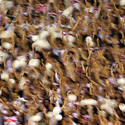 Vasco fans support their team during the Fluminense FC V CR Vasco da Gama Futebol Brasileirao League match at the Maracana, Jornalista Mário Filho Stadium, Rio de Janeiro,  Brazil. 22nd August 2010. Photo Tim Clayton.