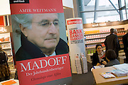 Buchmesse Frankfurt, biggest book fair in the World. A book about Madoff.