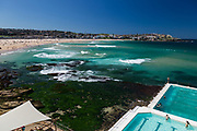 A beautiful autumn day at Bondi Icebergs, Bondi Beach, Sydney, Australia.