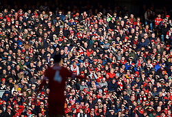 LIVERPOOL, ENGLAND - Saturday, February 24, 2018: Liverpool supporters during the FA Premier League match between Liverpool FC and West Ham United FC at Anfield. (Pic by David Rawcliffe/Propaganda)