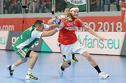 HANSEN Mikkel of Denmark during handball match between National teams of Denmark and Hungary on Day 2 in Preliminary Round of Men's EHF EURO 2018, on Januar 13, 2018 in Skolsko Sportska Dvorana, Varazdin, Croatia. Photo by Mario Horvat / Sportida