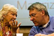 Roma 8 Settembre 2013<br /> Assemblea  in difesa della Costituzione.<br /> Lorenza Carlassare, giurista e costituzionalista , Maurizio Landini, segretario generale Fiom-Cgil,