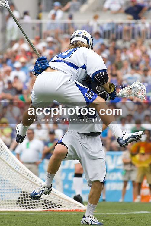 28 May 2007: Duke Blue Devils midfielder Brad Ross (10) in a 11-12 loss to the Johns Hopkins Blue Jays at M&T Bank Stadium during the NCAA finals in Baltimore, MD.
