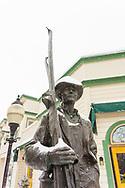 Statue on Historic Main Street, Park City, Utah, USA.
