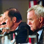 Bob Kerrey during the 9/11 Commission's 11th Public Hearing, New School University, New York