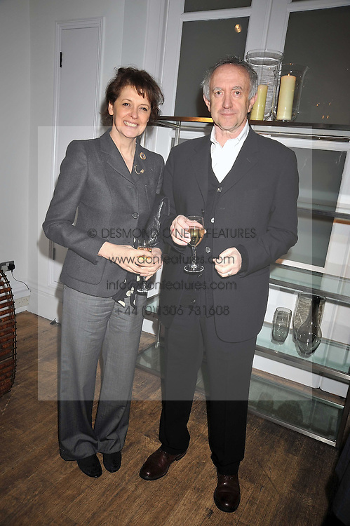 Actor JONATHAN PRYCE and KATE FAHY at a dinner hosted by Nicole Farhi at 16 Fouberts Place, London W1 on 9th February 2009.
