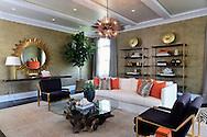 A living room designed by Lillian August Designs in the Hampton Designer Showhouse on Paul's Lane Bridgehampton, July 11, 2014.   ©  Audrey C. Tiernan