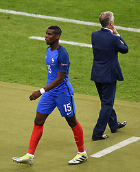 Paul Pogba of France is substituted  - Mandatory by-line: Joe Meredith/JMP - 10/06/2016 - FOOTBALL - Stade de France - Paris, France - France v Romania - UEFA European Championship Group A