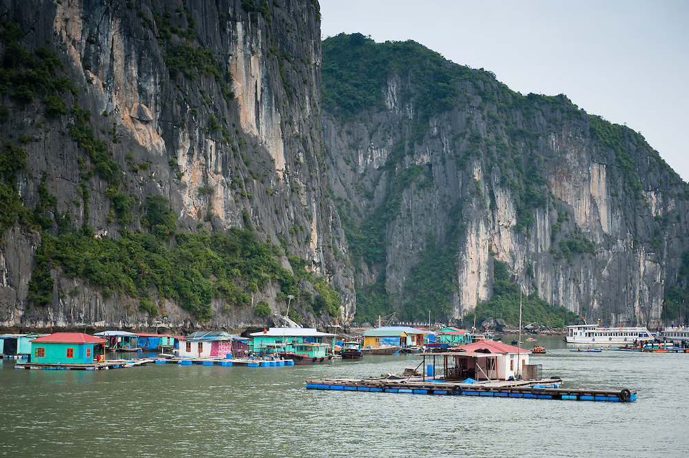 Ha Long Bay, thousand of limestones in the sea is one of the greatest tourist sites in Vietnam and one of its main attractions.