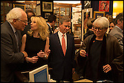 SIR EVELYN DE ROTHSCHILD;; VICKY WARD; ROBBIE RAYNES; BENNY RAYNES, Book party for 'The Liar's Ball' by Vicky Ward hosted by  Sir Evelyn  de Rothschild at Henry Sotheran's, 2 Sackville Street London. 25 November 2014