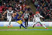 LA Rams Wide Receiver Cooper Kupp (18) during the International Series match between Los Angeles Rams and Cincinnati Bengals at Wembley Stadium, London, England on 27 October 2019.