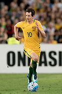 SYDNEY, NSW- NOVEMBER 15: Australian Robbie Kruse (10) takes the ball downfield at the Soccer World Cup Qualifier between Australia and Honduras on November 10, 2017. (Photo by Steven Markham/Icon Sportswire)