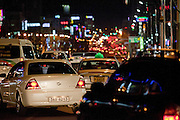 Evening rush hour in the city of Daegu. Daegu, also known as Taegu and officially the Daegu Metropolitan City, is the third largest metropolitan area in South Korea, and by city limits, the fourth largest city with over 2.5 million people. The IAAF World Championships in Athletics will take place in Daegu from the 27th of August till the 4th of September 2011.