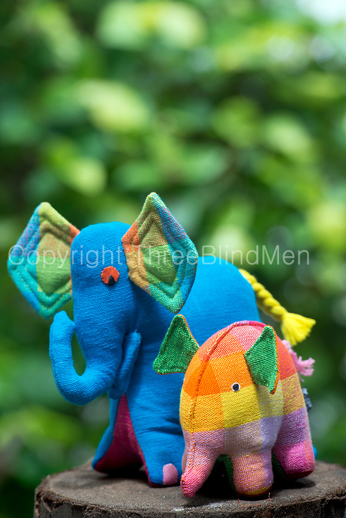 Barefoot soft toys. Cuddly the Elephant and Aliya the Elephant (smaller)