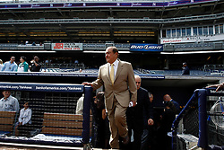 September 10, 2009; Bronx, NY; USA; Promoter Bob Arum enters the press conference at Yankee Stadium for the November 14, 2009 fight between Manny Pacquiao and Miguel Cotto.  The two will meet at the MGM Grand Garden Arena in Las Vegas, NV.
