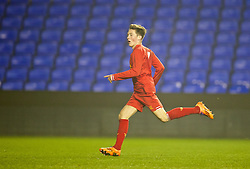 READING, ENGLAND - Wednesday, March 12, 2014: Liverpool's Harry Wilson scores the fourth goal against Reading in extra time during the FA Youth Cup Quarter-Final match at the Madejski Stadium. (Pic by David Rawcliffe/Propaganda)