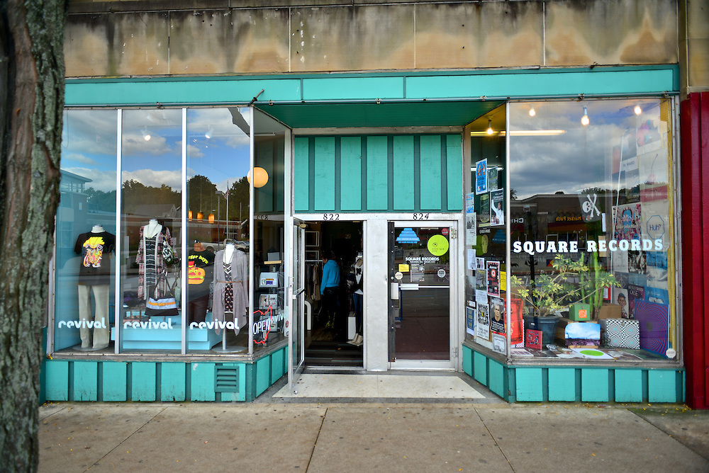 Street view of Square Records.