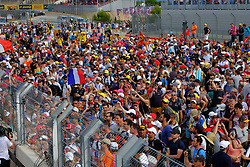 June 24, 2018 - Le Castellet, Var, France - Mercedes 44 Driver LEWIS HAMILTON (GBR) win the Formula one French Grand Prix at the Paul Ricard circuit at Le Castellet - France, Max Verstappen finish second and Kimi Raikkonen third..The public invades the circuit after the race. (Credit Image: © Pierre Stevenin via ZUMA Wire)