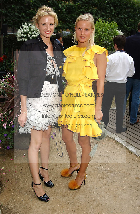Left to right, sisters FIONA SCARRY and OLYMPIA SCARRY at the Tatler Summer Party in association with Moschino at Home House, 20 Portman Square, London W1 on 29th June 2005.<br /><br />NON EXCLUSIVE - WORLD RIGHTS