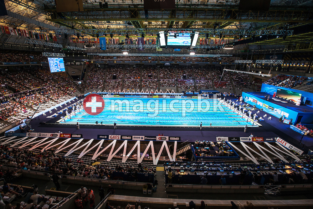 General view of the stadium during the 15th FINA World Aquatics Championships at the Palau Sant Jordi in Barcelona, Spain, Sunday, Aug. 4, 2013. (Photo by Patrick B. Kraemer / MAGICPBK)