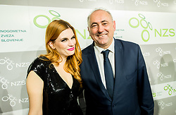 Tosca Beat and Radenko MIjatovic during Traditional New Year party of of the Slovenian Football Association - NZS, on December 18, 2017 in Kongresni center, Brdo pri Kranju, Slovenia. Photo by Vid Ponikvar / Sportida