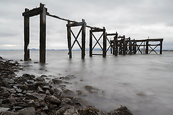 The wooden pier at Aberdour on the Fife Coastline