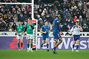 Anthony Belleau (FRA) after kicked a penalty during the NatWest 6 Nations 2018 rugby union match between France and Ireland on February 3, 2018 at Stade de France in Saint-Denis, France - Photo Stephane Allaman / ProSportsImages / DPPI