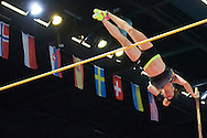 Torun, Poland - 2017 February 10: Nicole Buchler from Switzerland competes in women's pole vault while Copernicus Cup 2017 at the Sports and Entertainment Arena on February 10, 2017 in Torun, Poland.<br /> <br /> Mandatory credit:<br /> Photo by © Adam Nurkiewicz / Mediasport<br /> <br /> Adam Nurkiewicz declares that he has no rights to the image of people at the photographs of his authorship.<br /> <br /> Picture also available in RAW (NEF) or TIFF format on special request.<br /> <br /> Any editorial, commercial or promotional use requires written permission from the author of image.<br /> <br /> Image can be used in the press when the method of use and the signature does not hurt people on the picture.