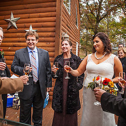 Laurie Varga and Tyler Money wedding Saturday October 18th, 2014 in Hocking Hills. (Christina Paolucci, photographer).