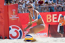 29.07.2017, Donauinsel, Wien, AUT, FIVB Beach Volleyball WM, Wien 2017, Damen, Gruppe L, im Bild Nadeschda Makrogusowa (RUS) // Nadeschda Makrogusowa of Russia during the women's group L match of 2017 FIVB Beach Volleyball World Championships at the Donauinsel in Wien, Austria on 2017/07/29. EXPA Pictures © 2017, PhotoCredit: EXPA/ Sebastian Pucher