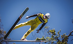 30.09.2018, Energie AG Skisprung Arena, Hinzenbach, AUT, FIS Ski Sprung, Sommer Grand Prix, Hinzenbach, im Bild Evgeniy Klimov (RUS) // Evgeniy Klimov of Russian Federation during FIS Ski Jumping Summer Grand Prix at the Energie AG Skisprung Arena, Hinzenbach, Austria on 2018/09/30. EXPA Pictures © 2018, PhotoCredit: EXPA/ Stefanie Oberhauser